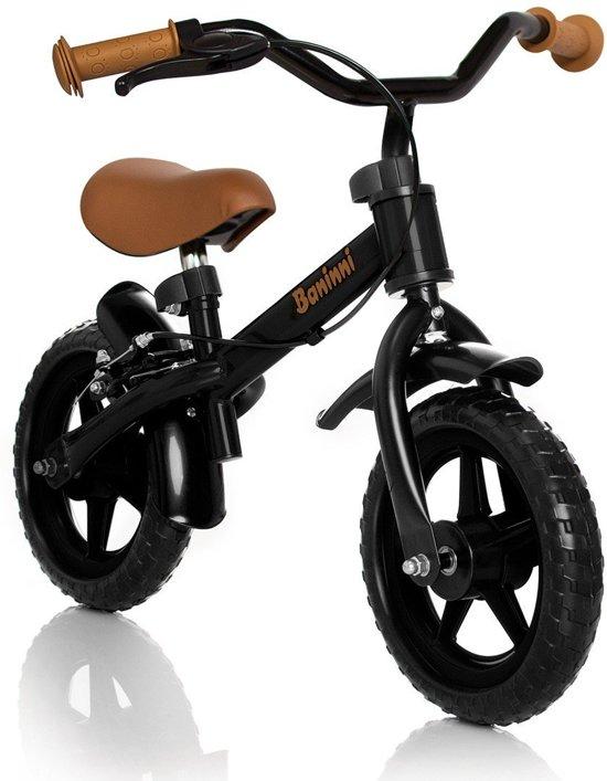 1c6ffa9dda4 Baninni Wheely Zwart/Bruin - Loopfiets