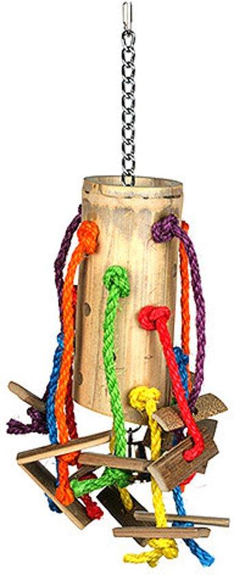 Happy Pet Puzzel Bamboe - Vogelspeelgoed - 48 x 24 x 24 cm