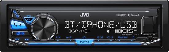 jvc kd x341bt digital media receiver met bluetooth en usb blauw. Black Bedroom Furniture Sets. Home Design Ideas