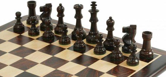 Antiek Schaak Thema Schaakspel, bord met stukken-Top-Kwaliteit