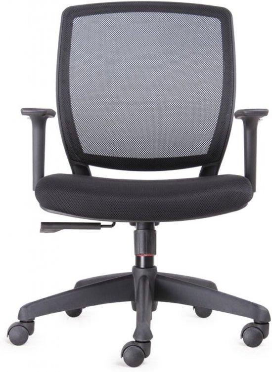 BenS 820 Ergonomische bureaustoel met in hoogte verstelbare armleggers Zwart