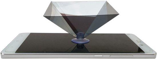 Holograpische pyramide mobiel