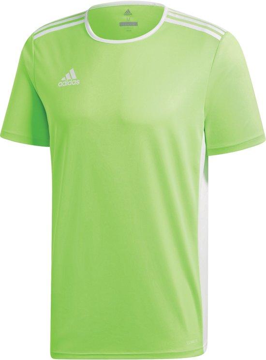 adidas Entrada 18 Trikot Heren Sportshirt - Solar Green/White - Maat S