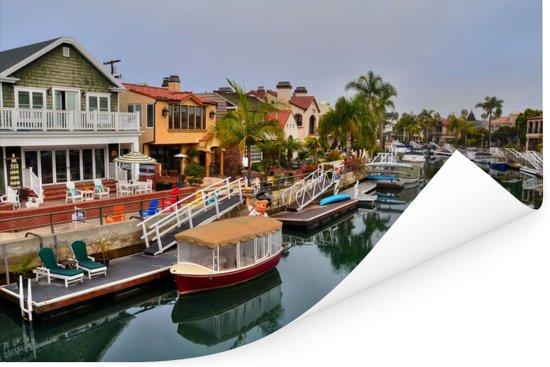 De wijk Naples in het Amerikaanse Long Beach Poster 90x60 cm - Foto print op Poster (wanddecoratie woonkamer / slaapkamer)