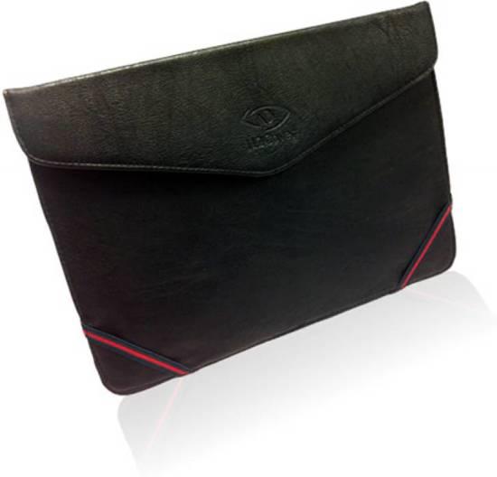 Sleeve met Stand voor de Denver Tad 10062, Luxe Tablet Tas, Zwart, merk i12Cover in Staverden