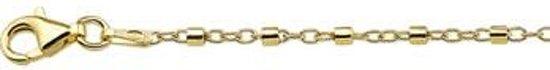 The Jewelry Collection Enkelbandje Buisjes 24 + 2 cm - Zilver verguld