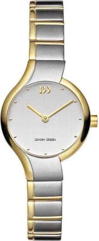 Danish Design IV65Q913 horloge dames - zilver en goud - titanium