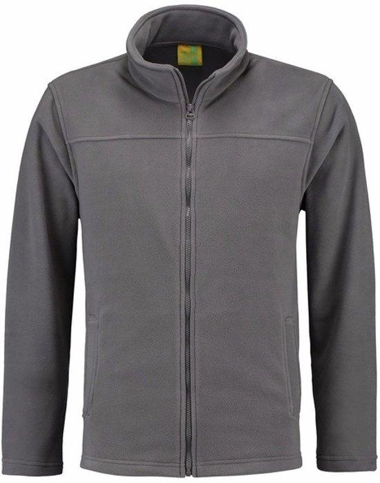 Grijs fleece vest met rits voor volwassenen 2XL (44/56)