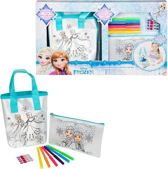 Disney Frozen Kleur je eigen tas en etui.