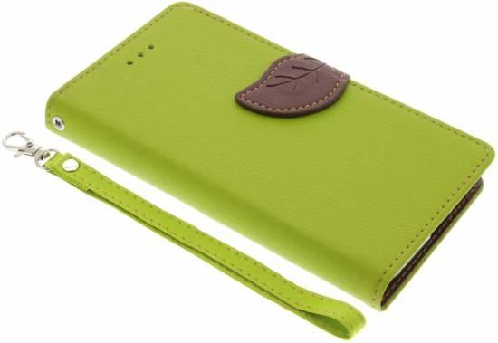 Conception De Feuille Verte Type Livre Tpu Pour Le Xcover Samsung Galaxy 4 NVOSJ