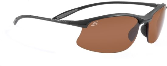 Serengeti Zonnebril - Polarised High-Contrast Photochromic Drivers Lens - Maestrale Satin Black 7356
