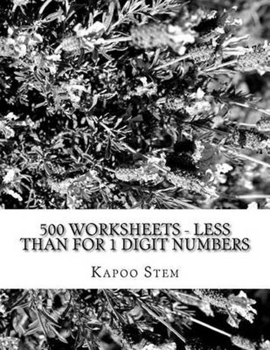 500 Worksheets - Less Than for 1 Digit Numbers