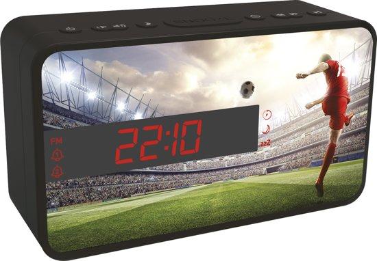 Bigben Wekkerradio Voetbal - 3 Wisselbare Panelen
