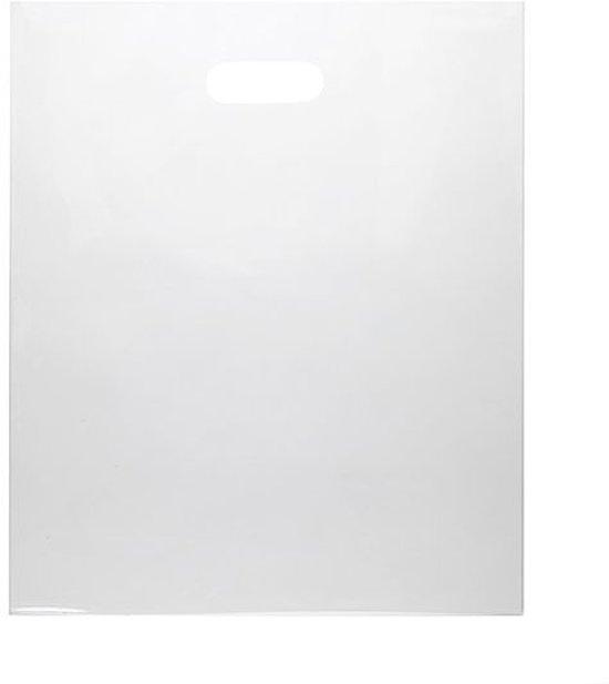 Draagtassen Plastic Helder 22,9x30,5cm 60 Micron LDPE (100 stuks)