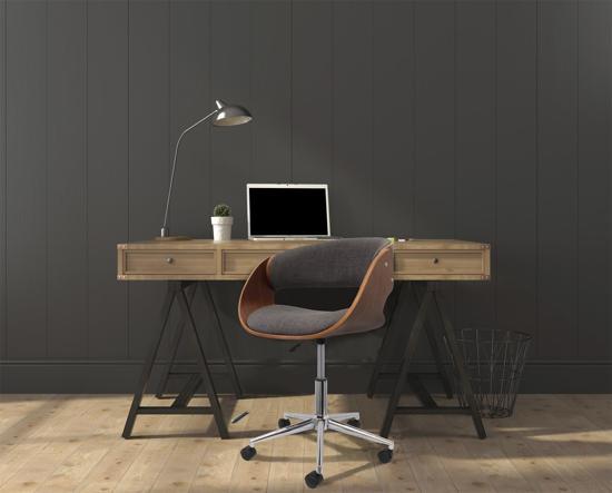 Bol luxe bureaustoel retro design hoogte instelbaar