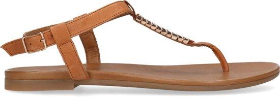 Sacha - Dames - Bruine sandalen met gouden details - Maat 39