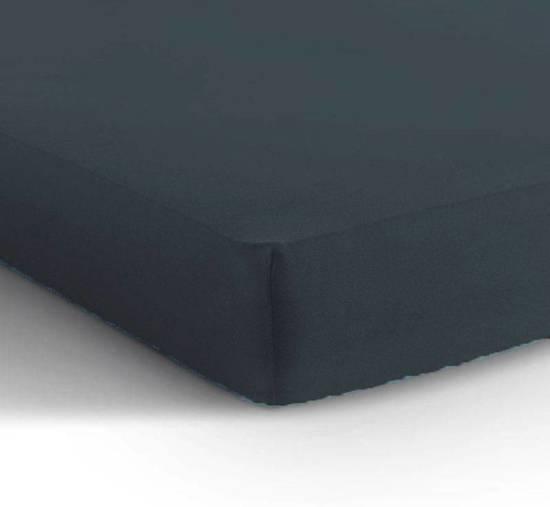Katoenen Hoeslaken Antraciet 140x200cm + 30cm hoekhoogte