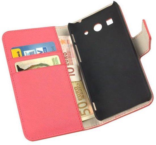 HC Bookcase Flip Wallet Telefoonhoesje - Huawei Ascend G525 Roze