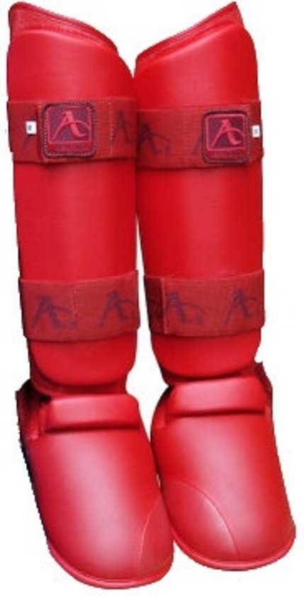 Arawaza Karate Scheenbeschermers Rood Maat M