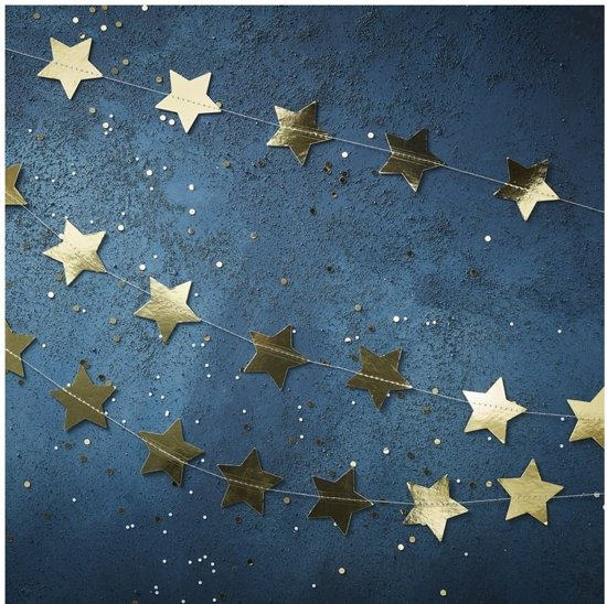 STERSLINGER GOUD  FOLIE | 5 METER | GOLD CHRISTMAS | GINGER RAY Valentinaa