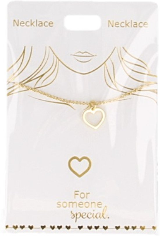 Ketting Hartje, gold plated