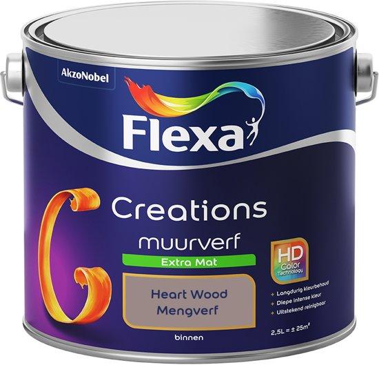 Flexa Creations - Muurverf Extra Mat - Heart Wood Kleur van het Jaar 2018- 2,5 Liter