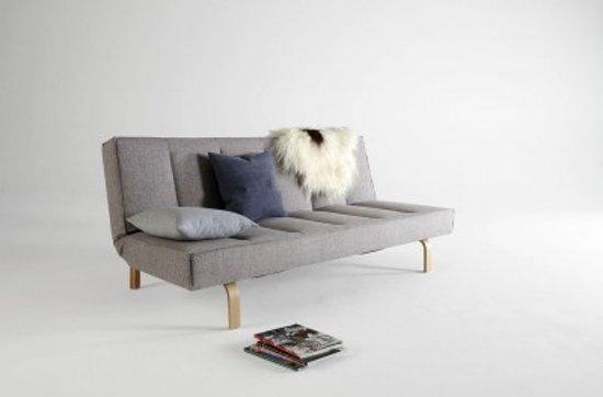 Slaapbank Met Leuning.Bol Com Innovation Odin Wood Slaapbank Grijs