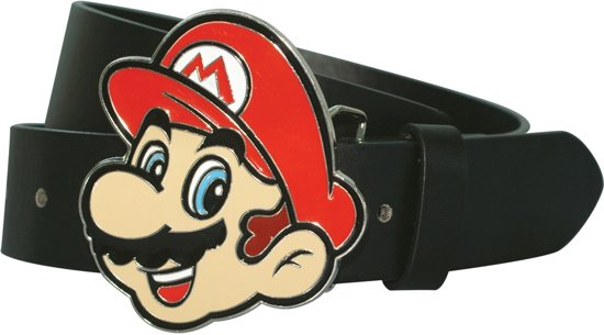 Nintendo - Mario Face Buckle with Strap - Riem - Maat XL