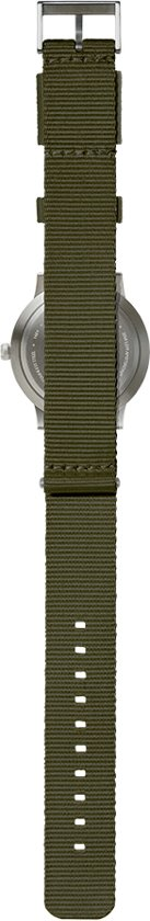 Tube watch T40 steel / green nato strap
