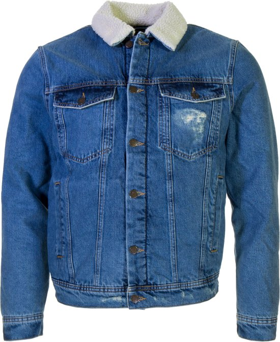 Teddy Jas Wit.Bol Com Colourful Rebel Denim Teddy Trucker Heren Jas Maat Xl