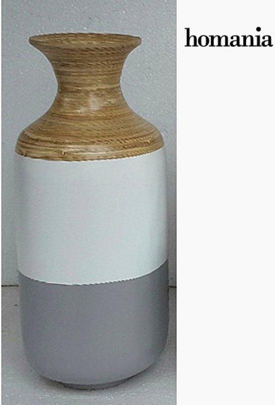 Super bol.com | Grijze met witte bamboe vaas by Homania IL-07