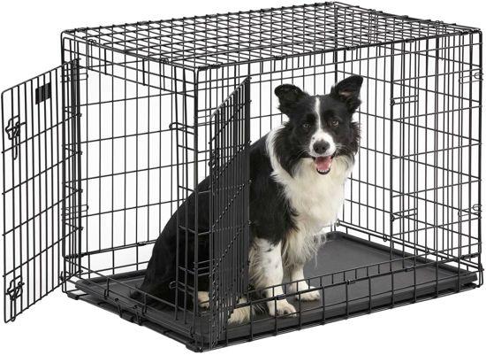 Hondenbench - A-kwaliteit - Zwart - 92 x 57 x 64 cm - inclusief passend  vetbed