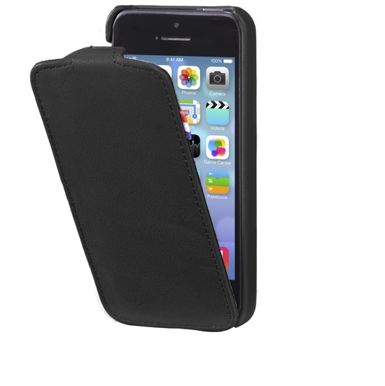 online store 1a7f7 e9365 Decoded Leather Flip Case voor iPhone 5 / iPhone 5S Zwart