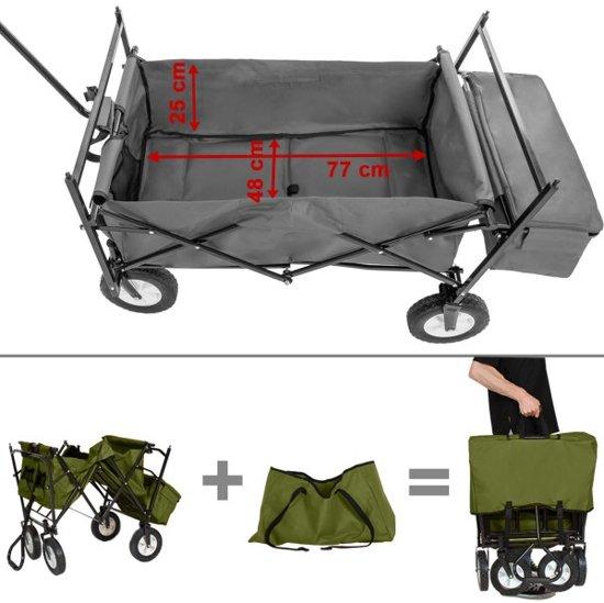 TecTake - Bolderkar transportkar bolderwagen groen + draagtas - 402317