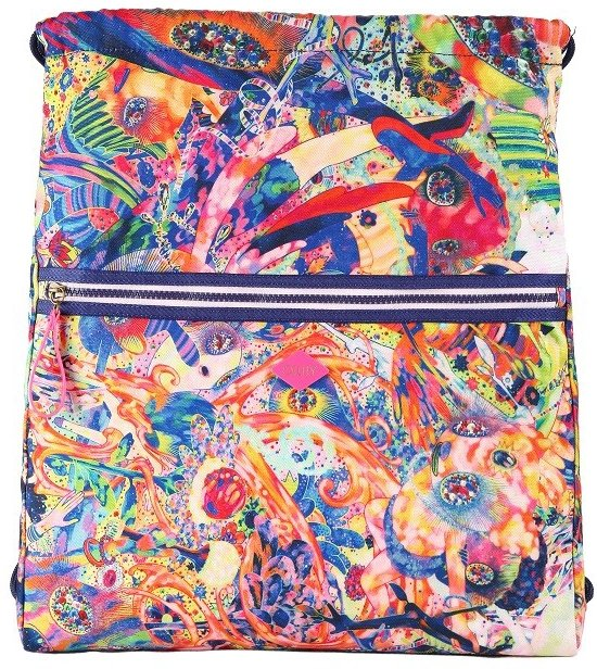Oilily Drawstring Bag Purple Rain
