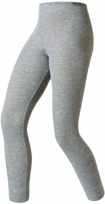 Odlo Bl Bottom Long Active Warm Kinderen Thermobroek - Grey Melange - Maat 164