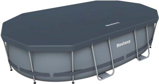 Bestway Power Steel Ovale zwembad set 488x305x107 cm 56448