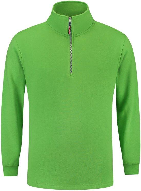Tricorp Sweater ritskraag - Casual - 301010 - Limoengroen - maat XL