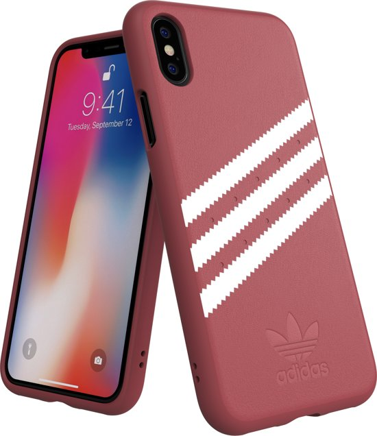 599c1700408 adidas OR Moulded Case PU SUEDE for iPhone X/Xs pink