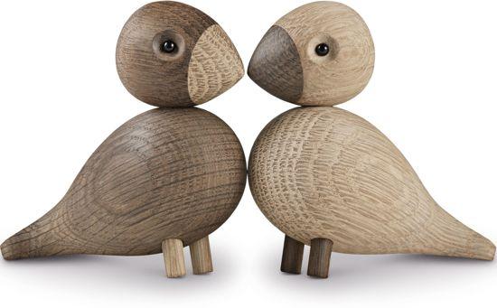 Modernistisk bol.com | Kay Bojesen Lovebirds - Decoratief object - Hout - Set van 2 RG-29