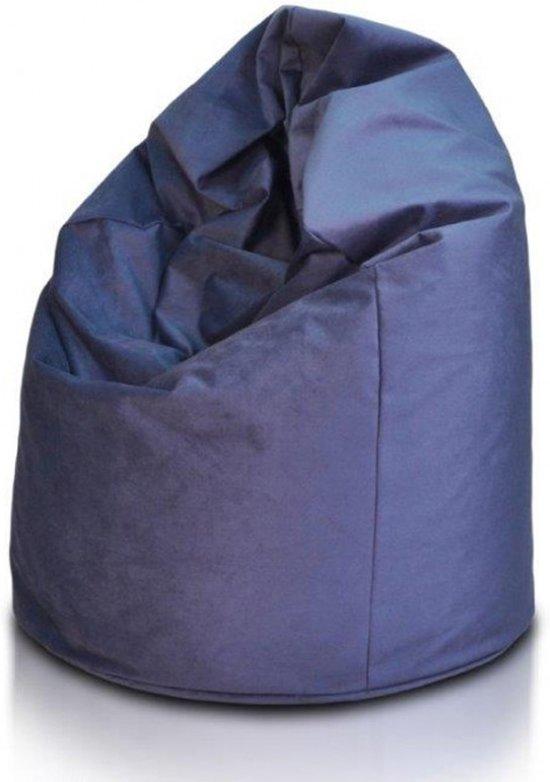 Donker Blauwe Zitzak.Bol Com Zitzak 110cm Donkerblauwe Stof