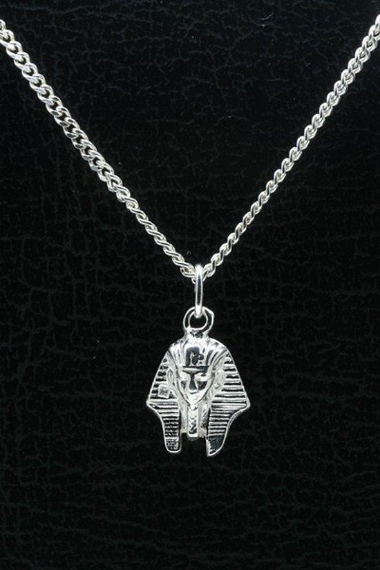 Zilveren Toetanchamon ketting hanger
