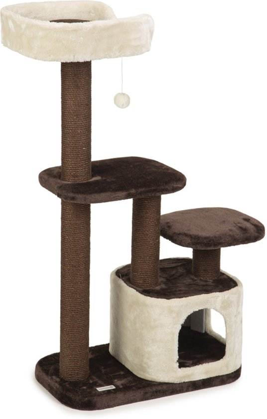 Beeztees Poronti - Krabpaal - Bruin/Creme - 60x40x115 cm