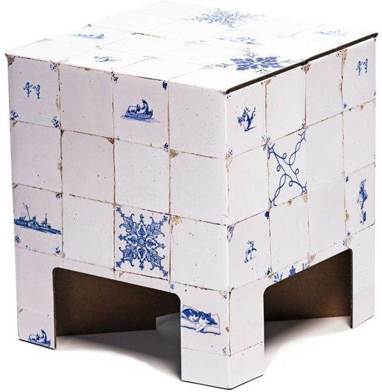 Dutch Design Brand kartonnen krukje - Uitvoering - Tegeltjes - Dutch Tiles