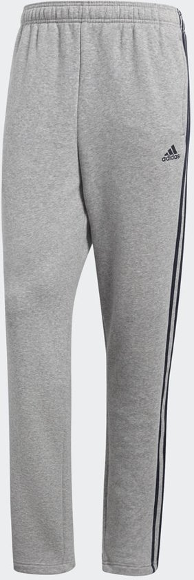 adidas Essentials 3Stripes T Pant Fl Joggingbroek Heren - Medium Grey  Heather/Collegiate Navy