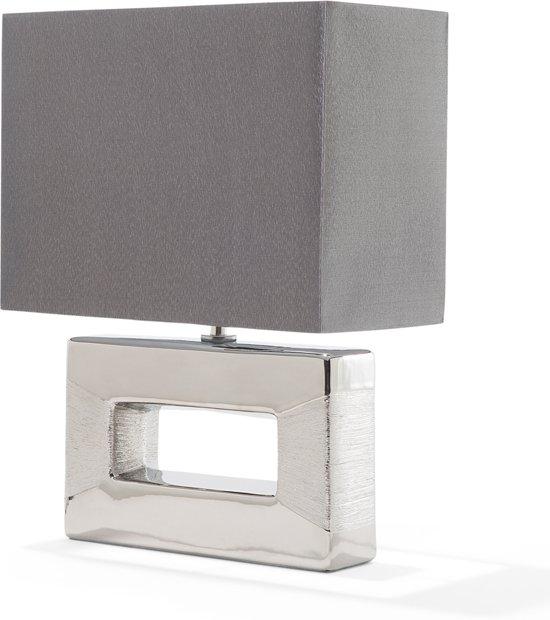 bol beliani onyx staande lamp keramiek zilver