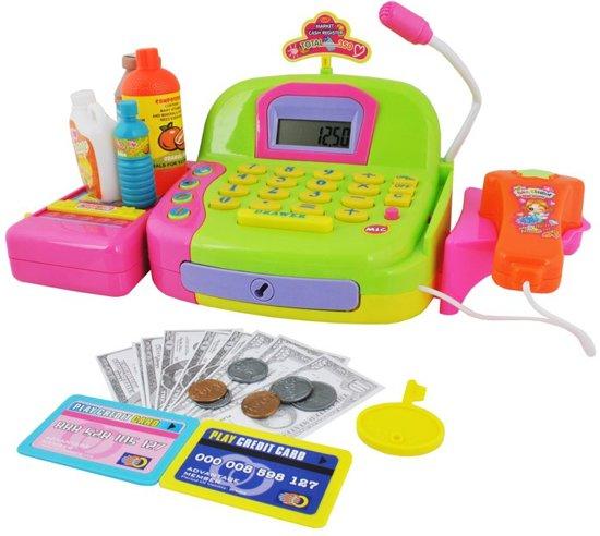 Electronische Speelgoed Kassa Met Scanner Set - Supermarkt Winkel Kinderkassa Met Kassalade & Speelgeld