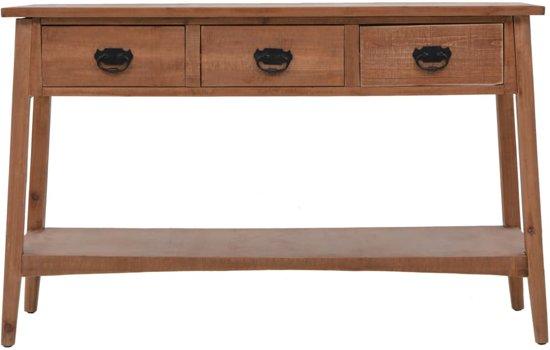 Sidetable Met 3 Lades.Wandkast Sidetable Wandtafel Met Lades En Plank 125x39x77cm