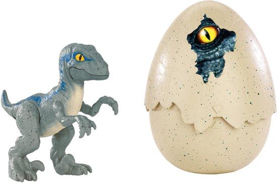 Jurassic World Hatch 'n Play Dino Ei Blue  - Speelgoed Dinosaurus