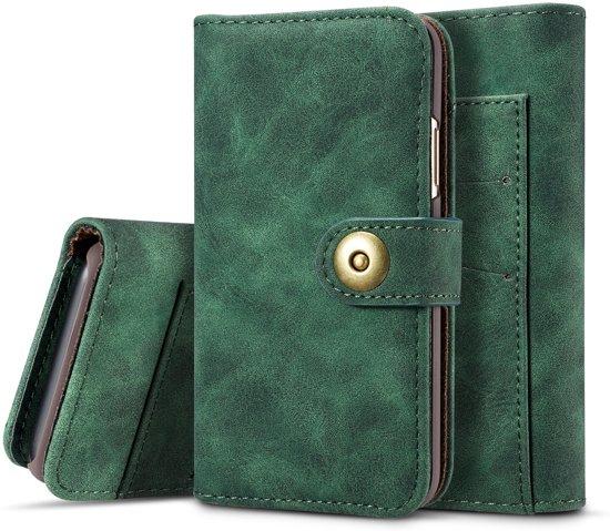Mobigear Retro Detachable Magnetic Wallet Hoesje Groen Apple iPhone 11 Pro